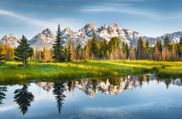 Picture of Teton mountains