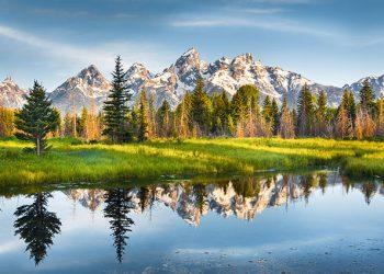 Picture of Teton mountains