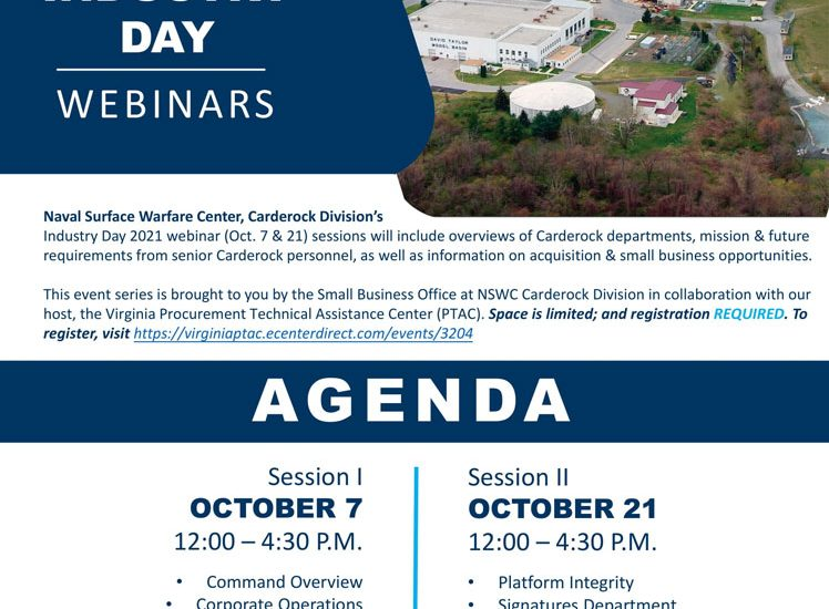 Join PTAC NAVSEA Warfare Centers Carderock for small business opportunities this October.